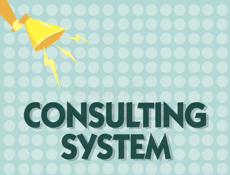 Handschrifttekst het Raadplegen Systeem Concept die Helpend firma's procesgeschiktheid en functionaliteit verbeteren betekenen stock illustratie