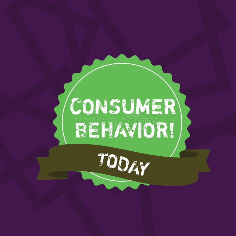 Handschrifttekst het schrijven Consumentengedrag Concept die studie betekenen van hoe de individuele klanten met het merk interac royalty-vrije illustratie