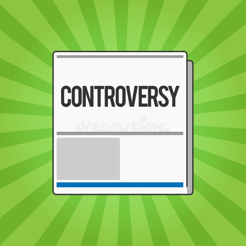 Handschrifttekst het schrijven Controverse Concept die Meningsverschil of Argument over iets betekenen belangrijk voor het tonen stock illustratie