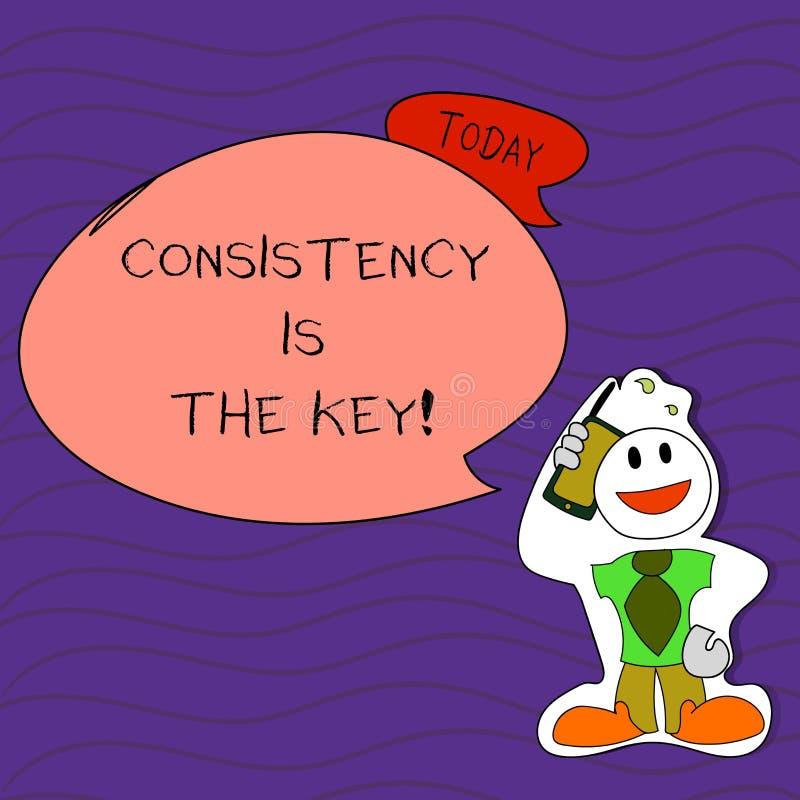 Handschrifttekst het schrijven de Consistentie is de Sleutel Conceptenbetekenis door Breaking Bad-Gewoonten en het Vormen van Goe vector illustratie