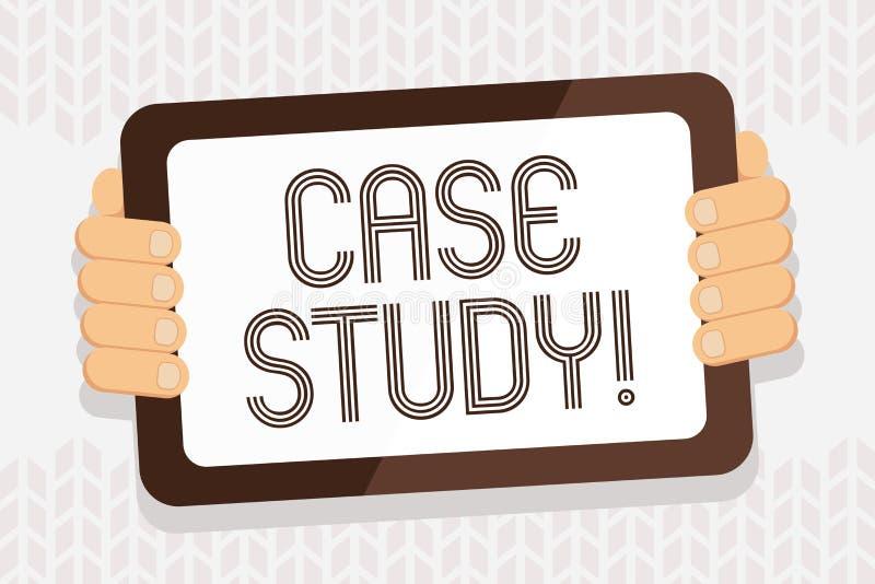 Handschrifttekst het schrijven Gevallenanalyse Het verslag van de conceptenbetekenis van onderzoek naar ontwikkeling van bijzonde stock illustratie