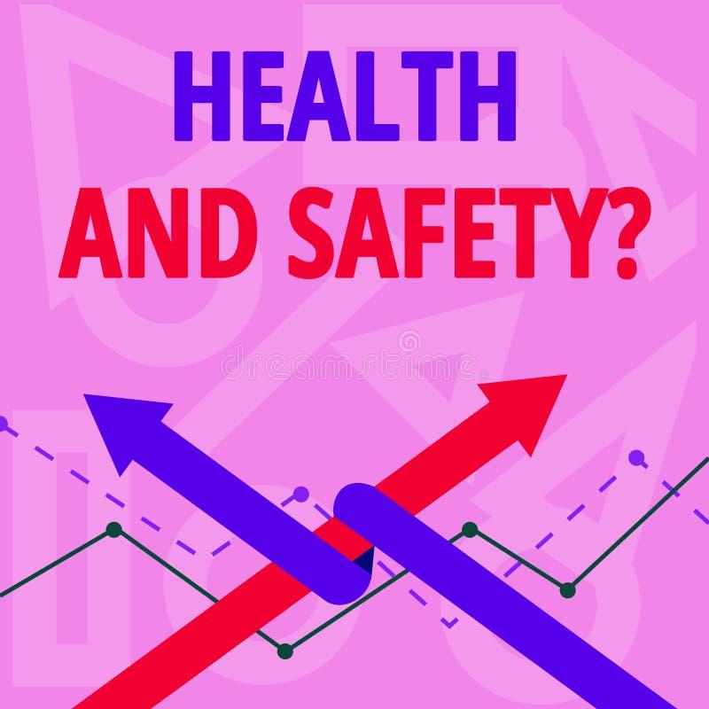 Handschrifttekst het schrijven Gezondheid en Veiligheidsvraag Concept die verordeningen en procedures betekenen om ongeval te ver vector illustratie