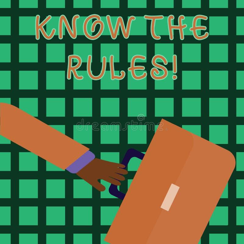Handschrifttekst het schrijven kent de Regels De conceptenbetekenis begrijpt termijnen en de voorwaarden krijgen juridisch advies royalty-vrije illustratie