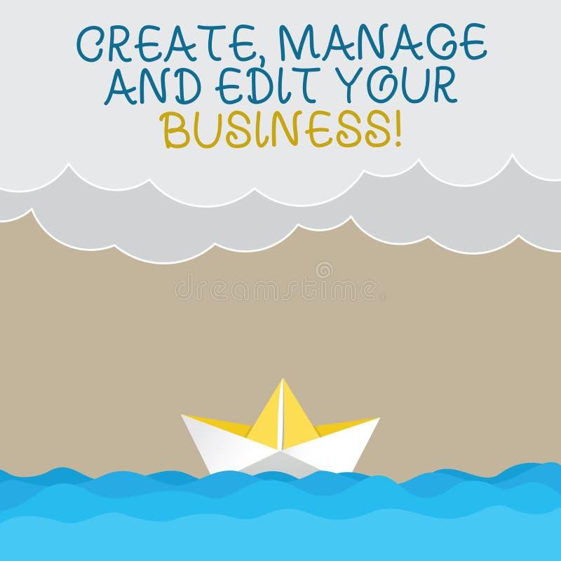 Handschrifttekst het schrijven leidt tot beheert en uitgeeft Uw Zaken Het concept die Ontwerp betekenen ontwikkelt bedrijfanalysi royalty-vrije illustratie