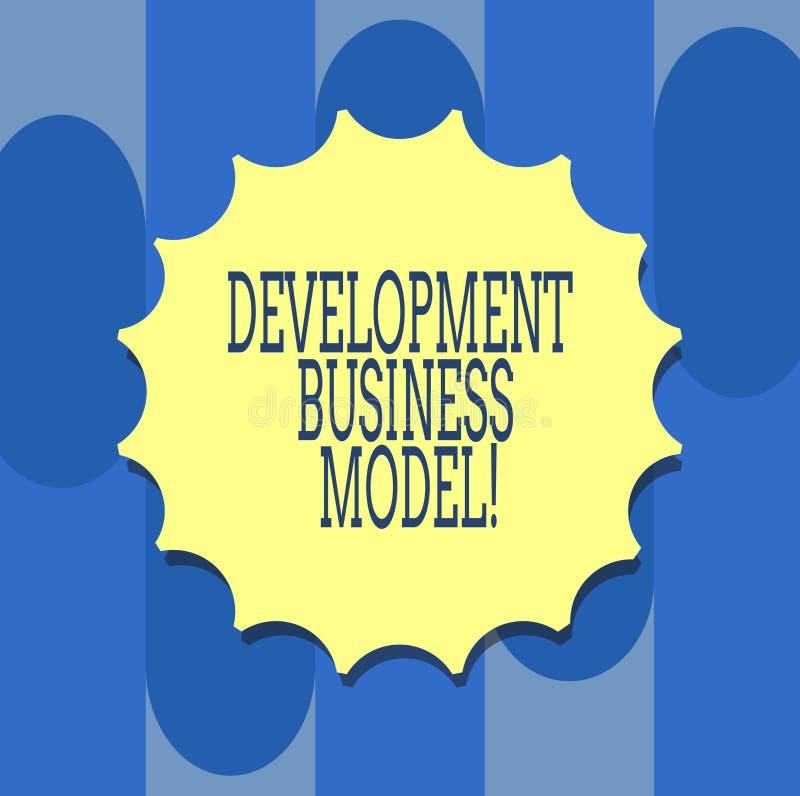 Handschrifttekst het schrijven Ontwikkelings Bedrijfsmodel Concept die reden betekenen van hoe een organisatie Lege Verbinding cr vector illustratie