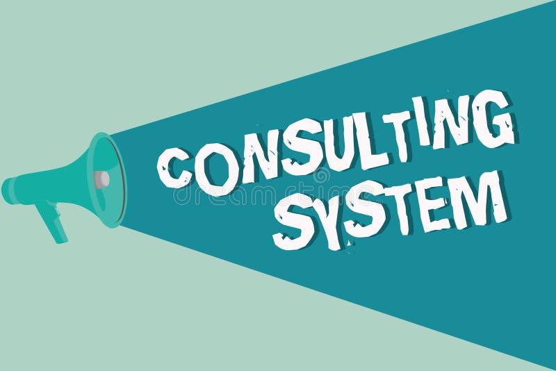 Handschrifttekst het schrijven het Raadplegen Systeem Concept die Helpend firma's procesgeschiktheid en functionaliteit verbetere royalty-vrije illustratie