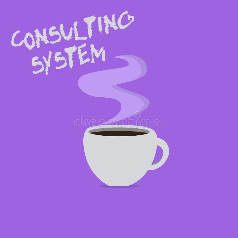 Handschrifttekst het schrijven het Raadplegen Systeem Concept die Helpend firma's procesgeschiktheid en functionaliteit verbetere vector illustratie