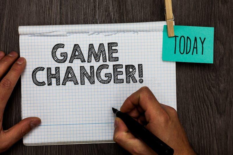 Handschrifttekst het schrijven Spelwisselaar Concept die van de Doelpuntenmakergamestreams Live Scores Team Admins Open van Sport royalty-vrije stock foto