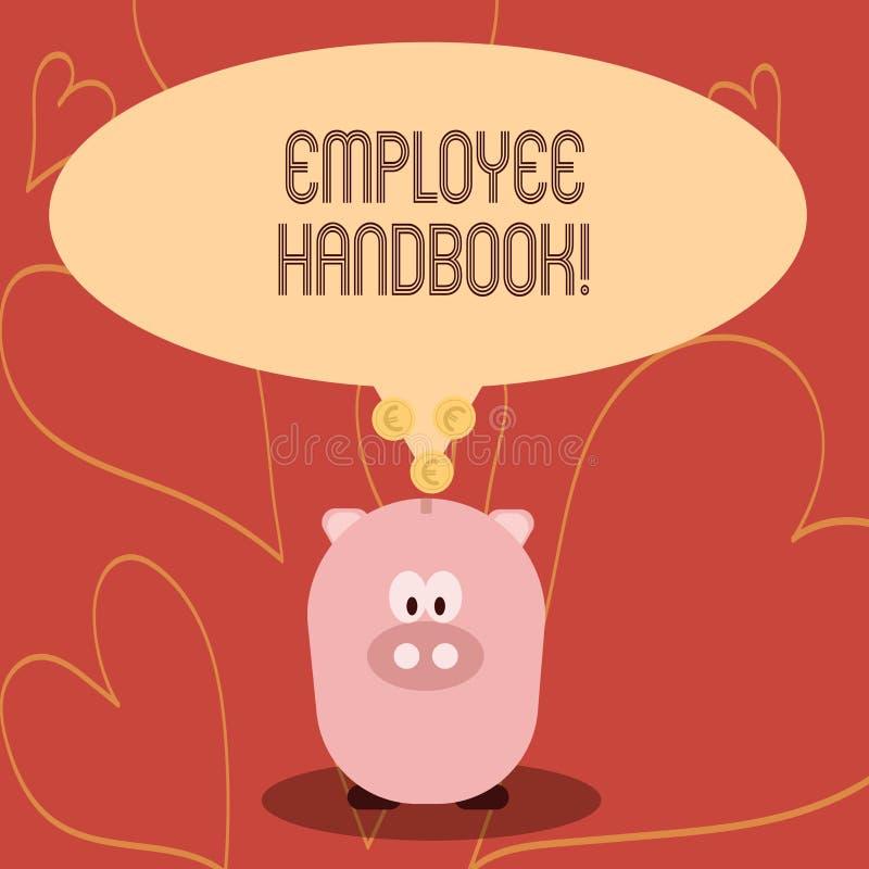 Handschrifttekst het schrijven Werknemershandboek Concept die Document Handverordeningen het Beleidscode betekenen van de Regelsh vector illustratie