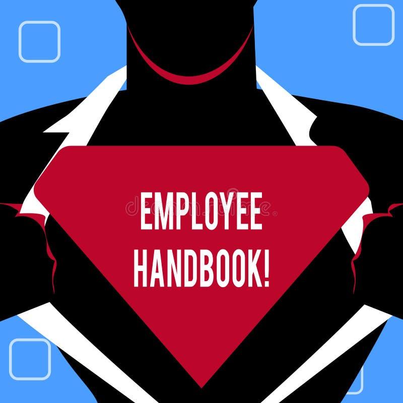 Handschrifttekst het schrijven Werknemershandboek Concept die Document Handverordeningen het Beleidscode betekenen van de Regelsh stock illustratie