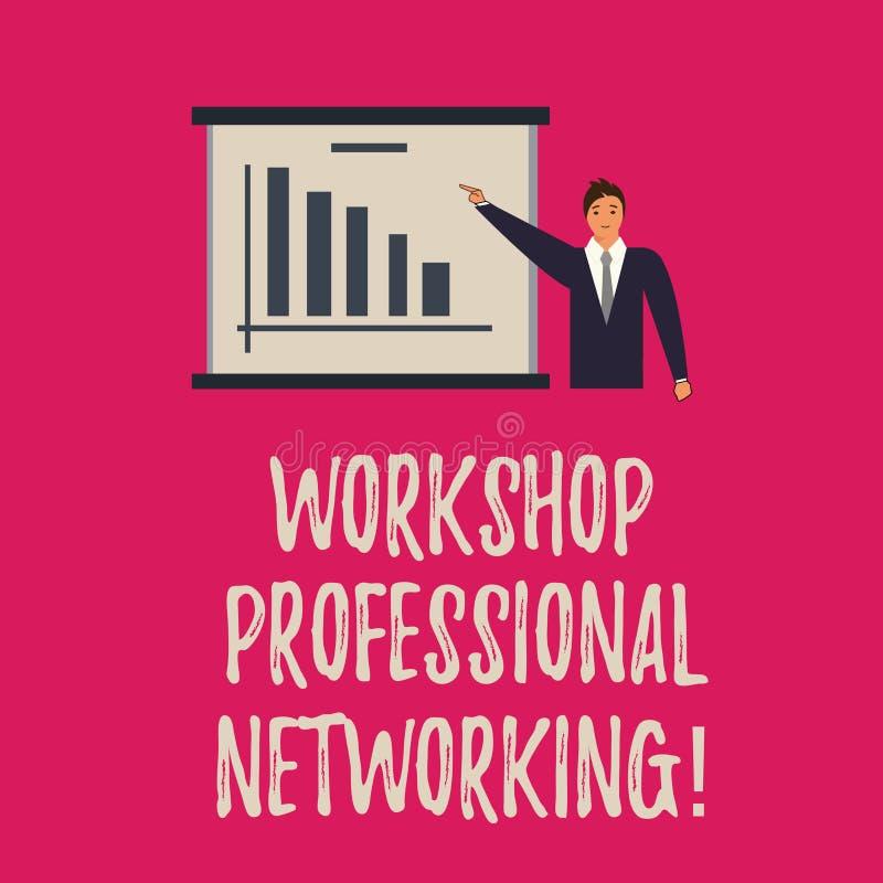 Handschrifttekst het schrijven Workshop Professioneel Voorzien van een netwerk Concept die Activiteiten betekenen om de verbindin vector illustratie