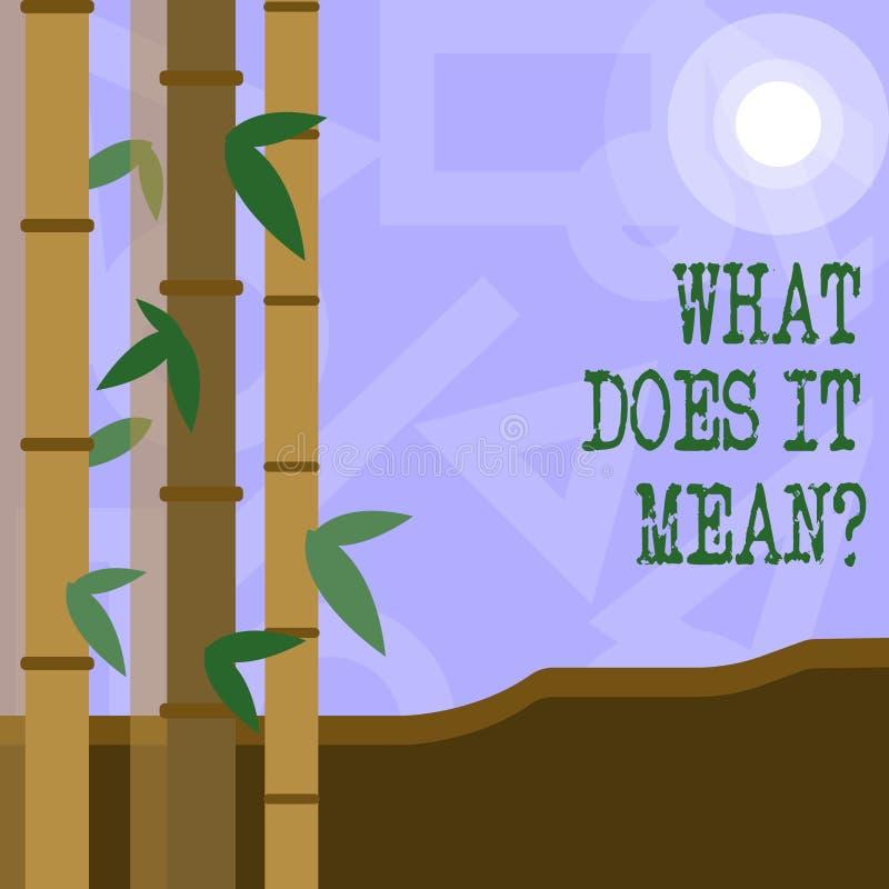 Handschrifttekst wat het Meanquestion doet Het concept die Verwarringnieuwsgierigheid het Vragen betekenen onderzoekt stock illustratie