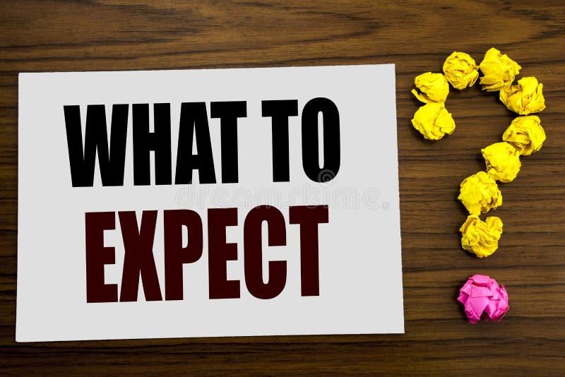 Handschrifttexttitel-Inspirationsvertretung zu erwarten was Geschäftskonzept für Achieve Erwartung geschrieben auf weißes Briefpa lizenzfreie stockfotos