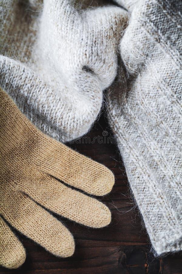 Download Handschuh Auf Wollestrickjacke Stockbild - Bild von fertigkeit, hitze: 27727627