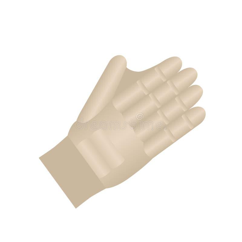 Handschuh für Sportspiele Vektorfarbikone Getrennt auf wei?em Hintergrund vektor abbildung