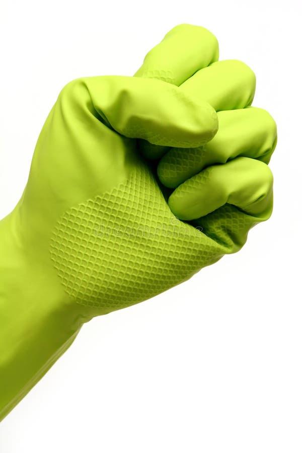 Handschuh-Faust stockbilder