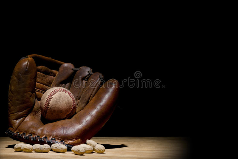 Handschuh und Baseball stockfoto