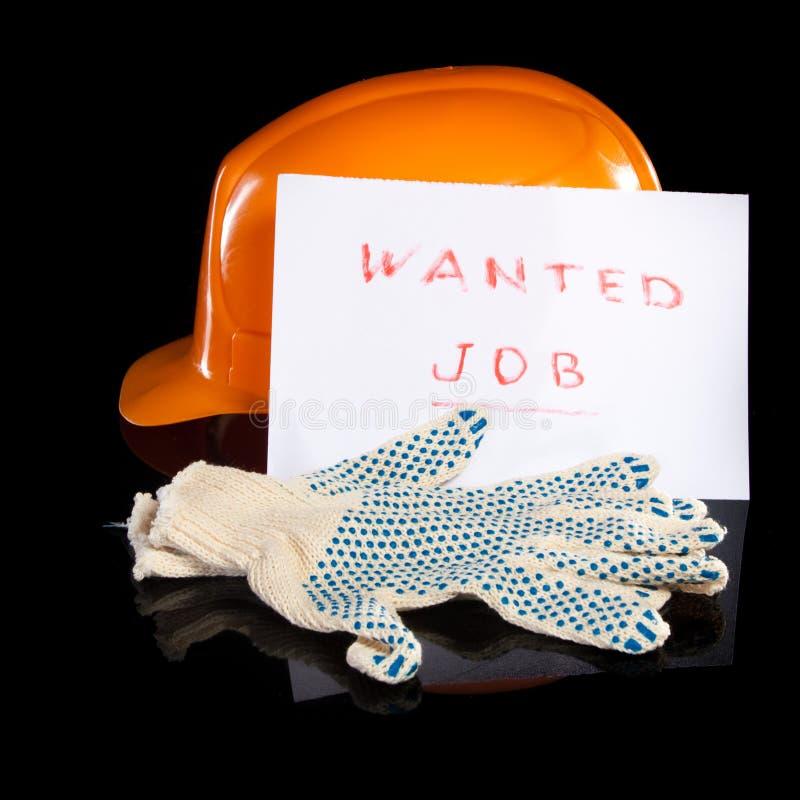 Handschuhe des harten Hutes und der Arbeit lizenzfreie stockfotografie