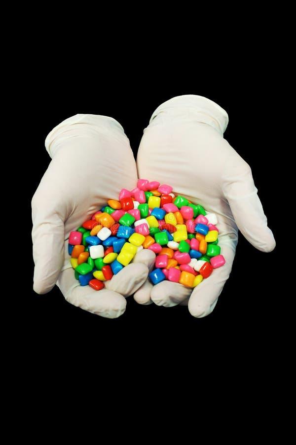 Handschuhe und Gummi lizenzfreie stockfotos