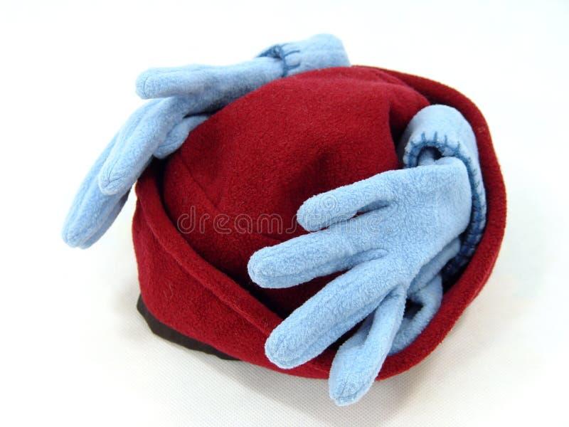 Handschuhe und Hut stockbilder