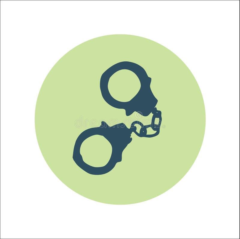 Handscuffs平的象传染媒介 向量例证