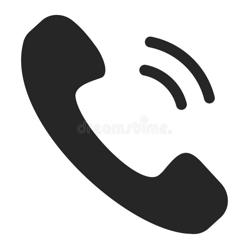 Handset czarną ikonę, część telefon royalty ilustracja