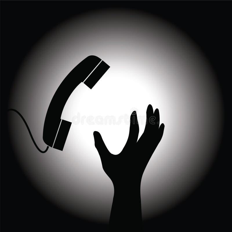 Download Handset and hand stock vector. Image of dark, light, hope - 18903824