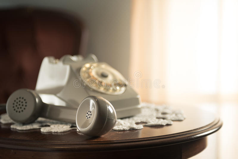 Handset on hold stock photos