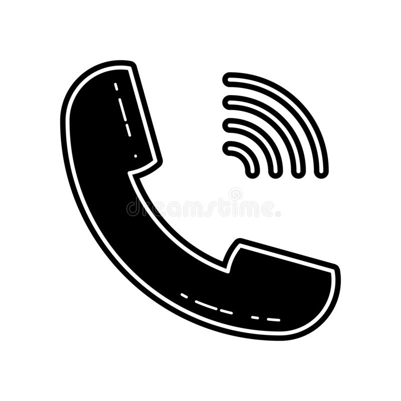 Handset icon. Element of Media tool for mobile concept and web apps icon. Glyph, flat icon for website design and development, app. Development on white stock illustration