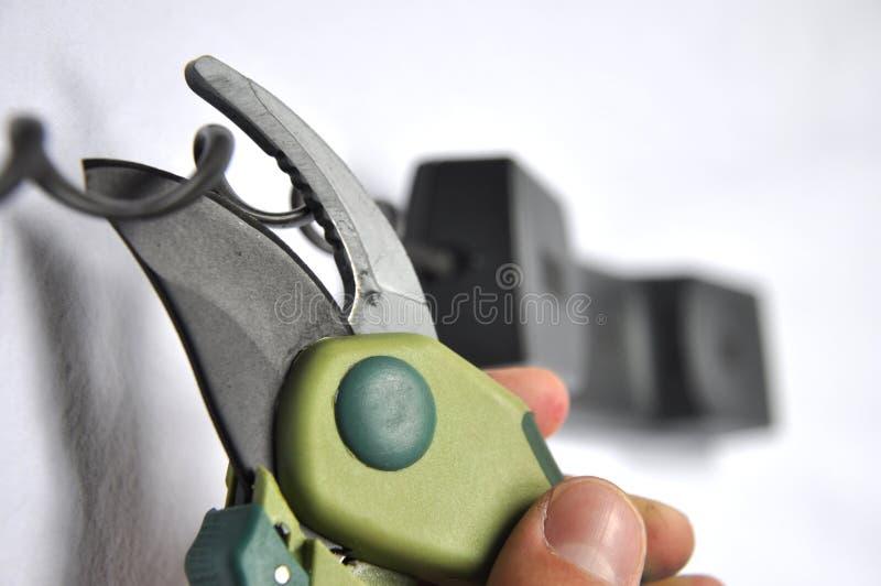 handset tnący telefon zdjęcie stock