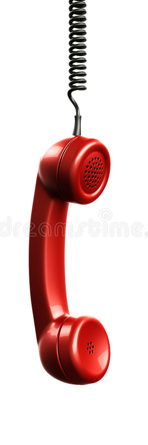Handset from vintage phone royalty free illustration