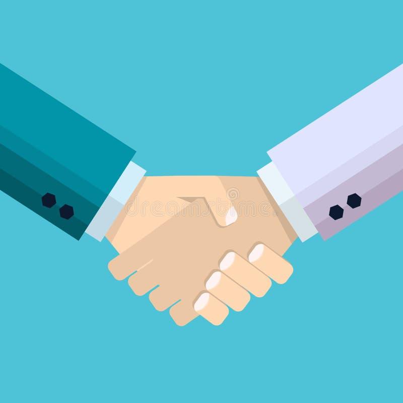 Handshak di associazione di affari Segno di affare o agreemen degli uomini d'affari royalty illustrazione gratis