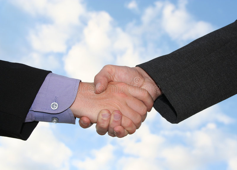 Download Handshake stock image. Image of agreement, clouds, agree - 145597