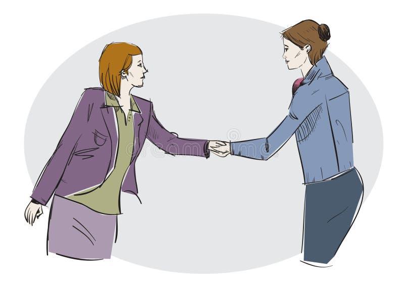 Download Handshake stock vector. Image of agreement, deal, interview - 26605074