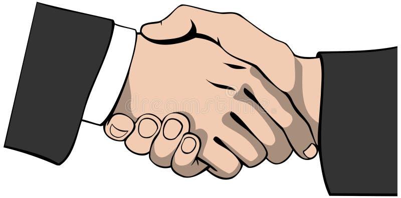 Handshake. Vector illustration of a handshake in a businesslike manner stock illustration