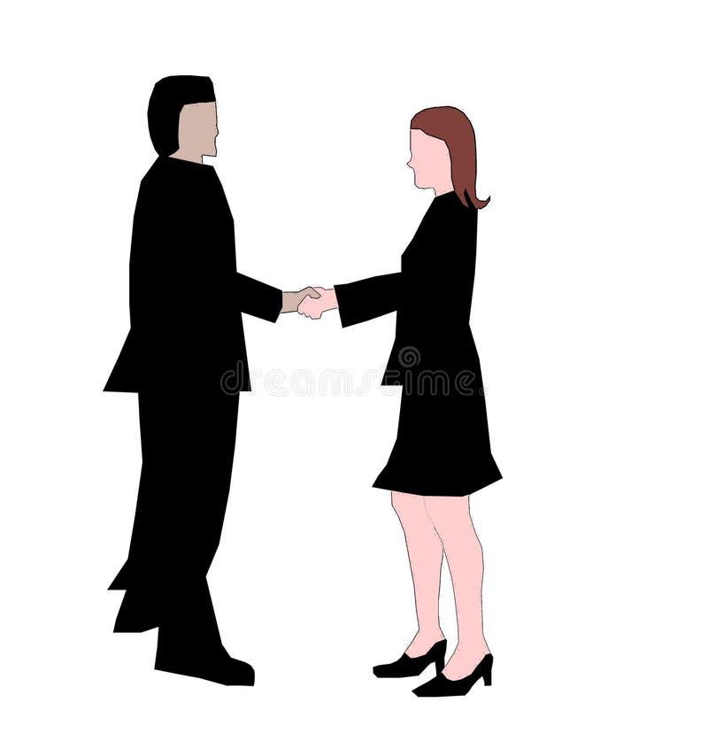 handshake stock illustrationer