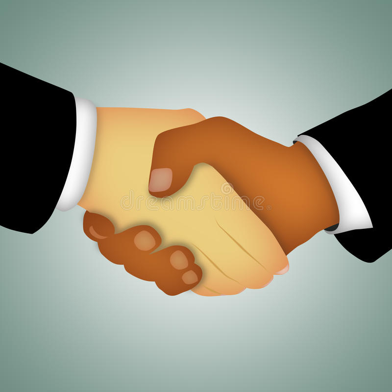 Handshake Abstract. Hands of businessmen shaking in agreement royalty free illustration