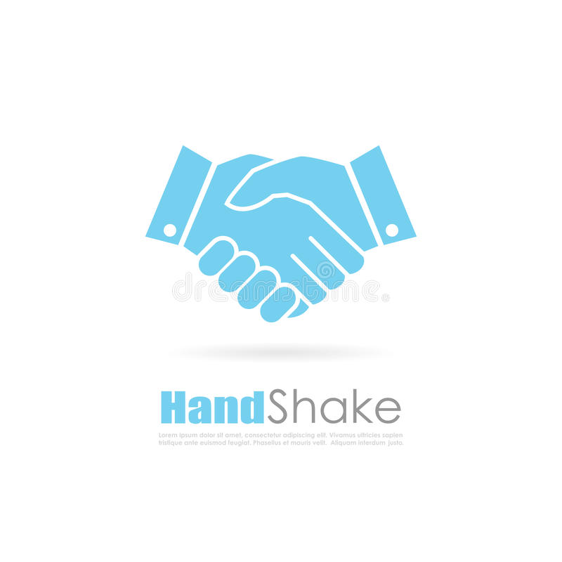 Handshake abstract business logo stock illustration