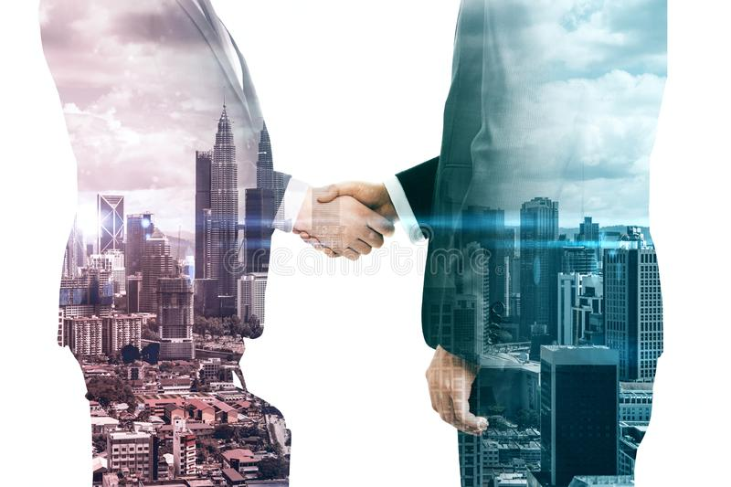 Teamwork and partnership concept stock images