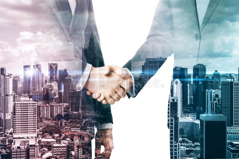 Teamwork and partnership concept royalty free stock image