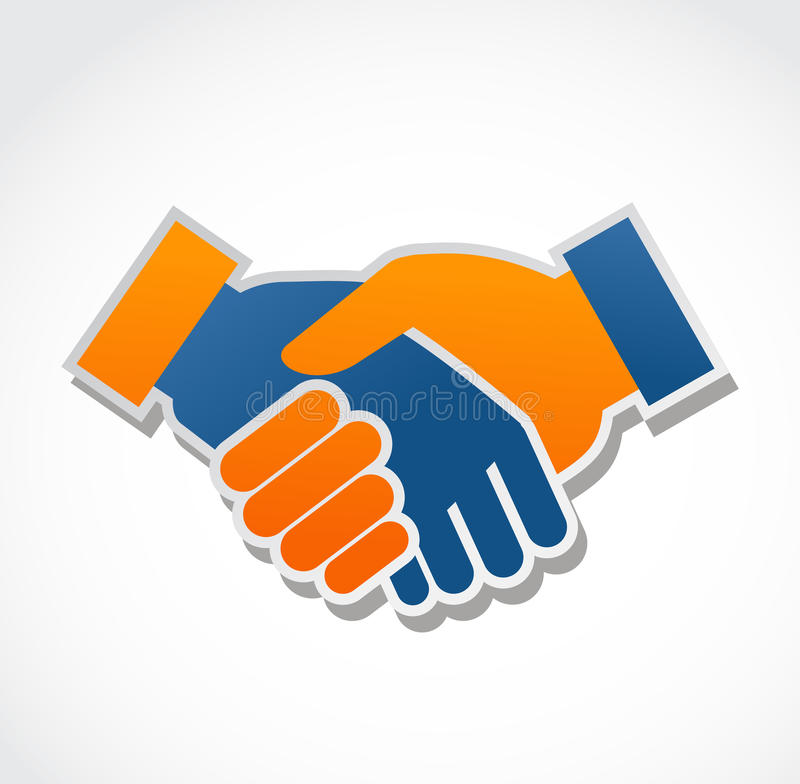 Download Handshake Abstract Vector Illustration Stock Images - Image: 23916934