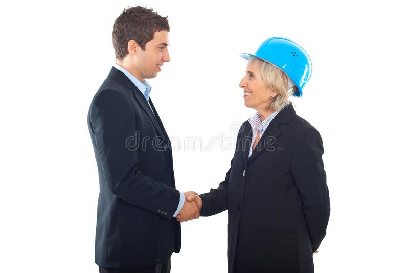 Download Handshake Architect Woman And  Businessman Stock Image - Image: 16713509