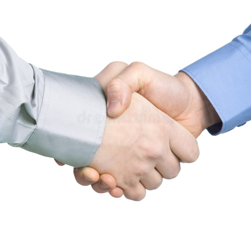 Handshake with a background royalty free stock photo