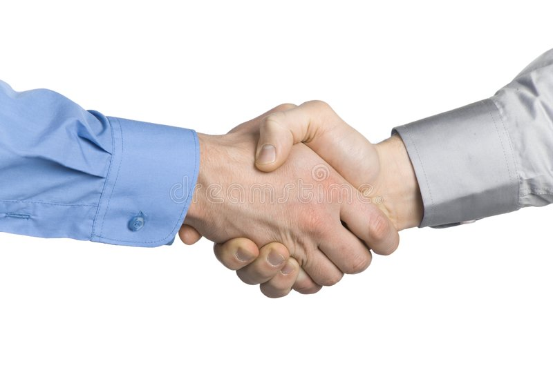 Handshake with a background royalty free stock images