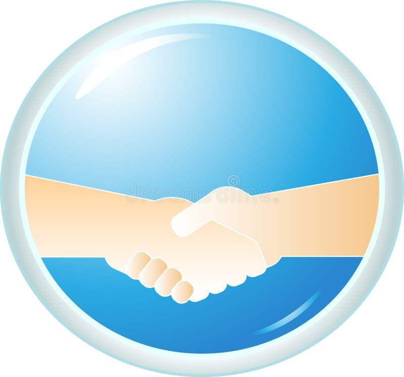 Download Handshake On Blue Background Stock Vector - Illustration: 22090124