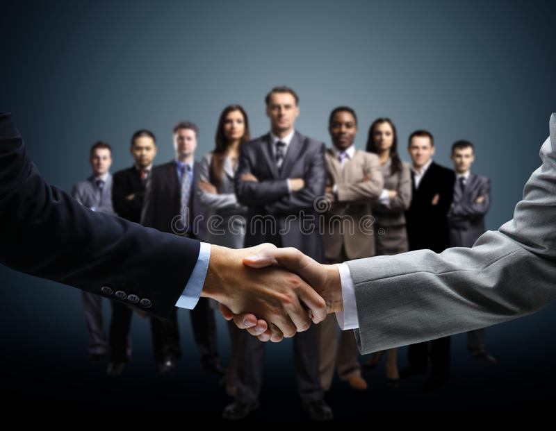 Handshake on business. Background stock images