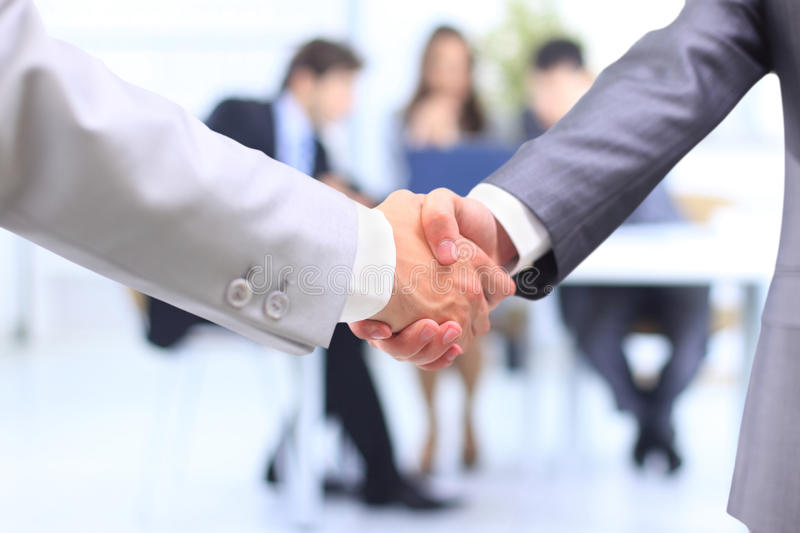 Handshake on business royalty free stock image