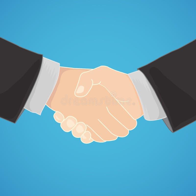 Handshake in business. Handshake in a businesslike manner vector illustration