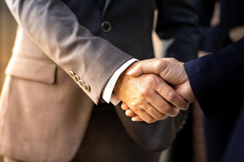 Business deal mergers and acquisitions royalty free stock photography