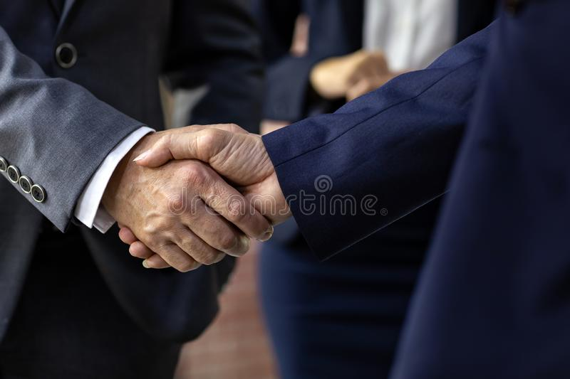 Business deal mergers and acquisitions stock photo